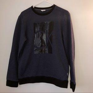 Calvin Klein Navy Blue & Black Crewneck Sweatshirt